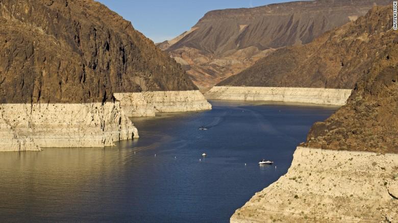 Lake Mead receding water